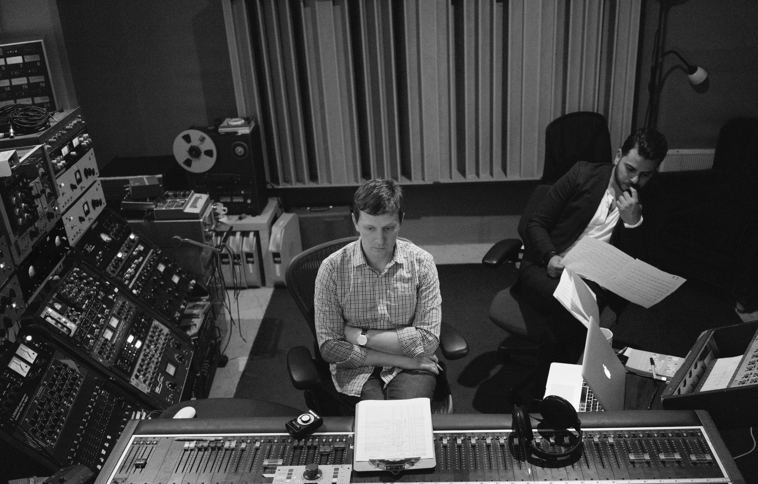 Composer Julián de la Chica & Ryan Streber at Oktaven Audio, Yonkers, NY Photo by Hassan Malik