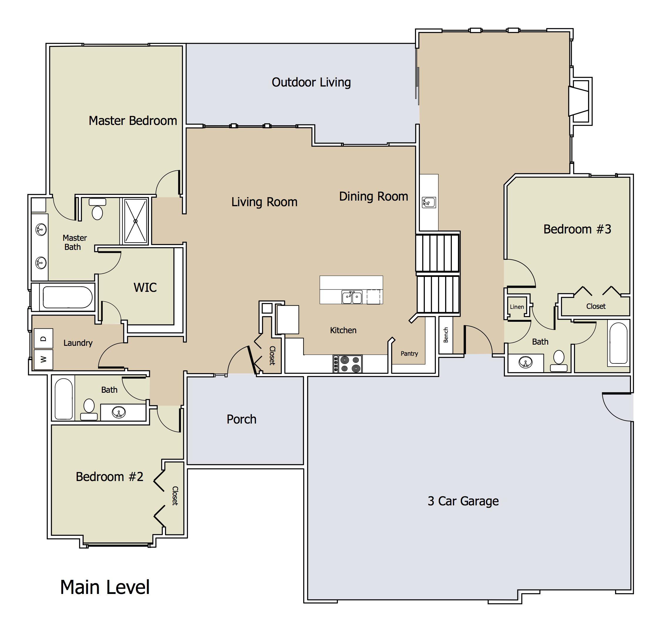 1650 FLEX Plan ML by Blue Custom Homes