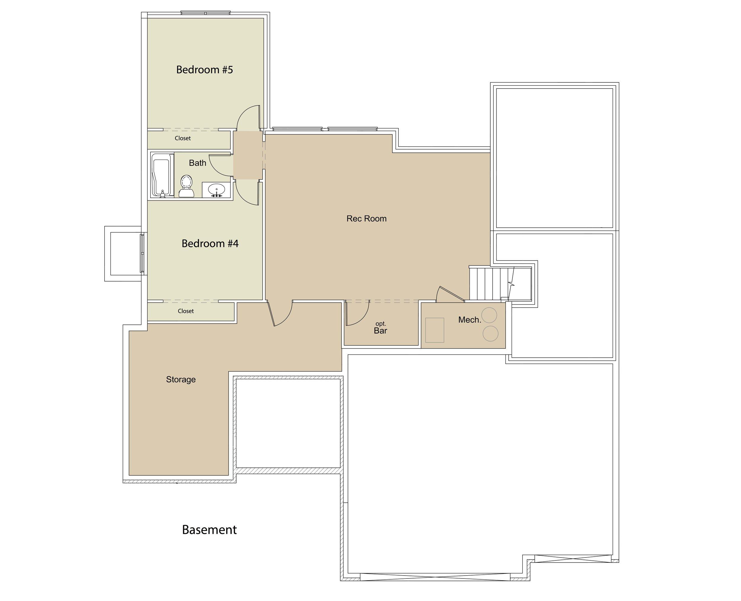 "Ridgewood FLEX Plan BSMT ""Doggie House"" by JL Russell Construction"