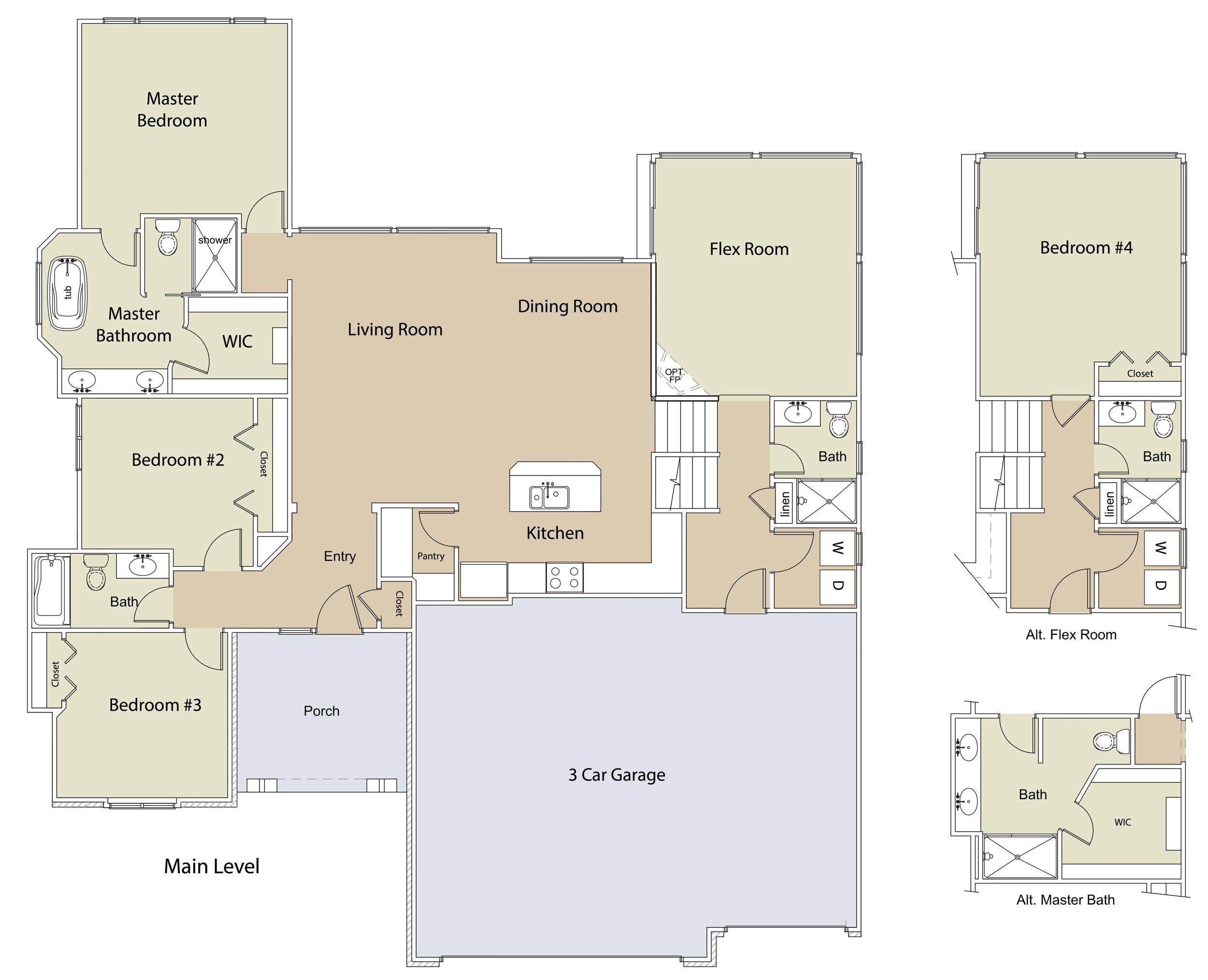 "Ridgewood FLEX Plan ML ""Doggie House"" by JL Russell Construction"