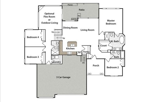 """Caswell FLEX Plan """"4-2"""" by JL Russell Construction"""