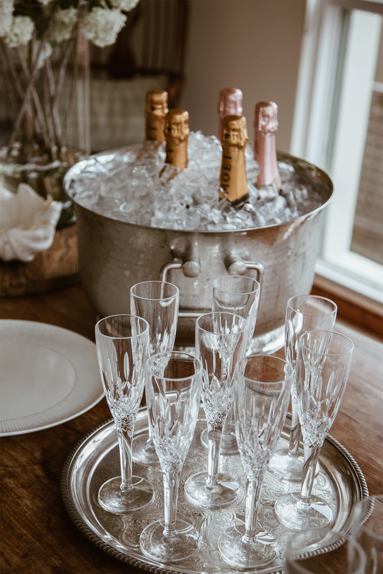 CLICK TO BUY:       Royal Doulton Highclere Crystal Flutes