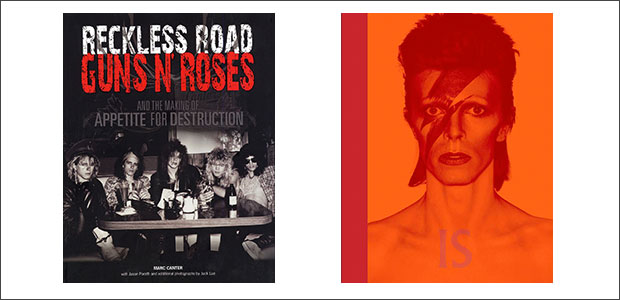 CLICK TO BUY:   Reckless Road: Guns N' Roses and the Making of Appetite of Destruction by Marc Canter ;  David Bowie Is by Victoria Broackes and Geoffrey Marsh .