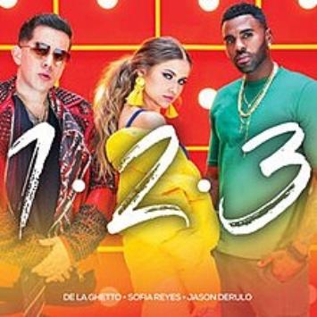 "Sofia Reyes, Jason Derulo, De La Ghetto ""1,2,3""   Platinum/Gold - 7 Countries"