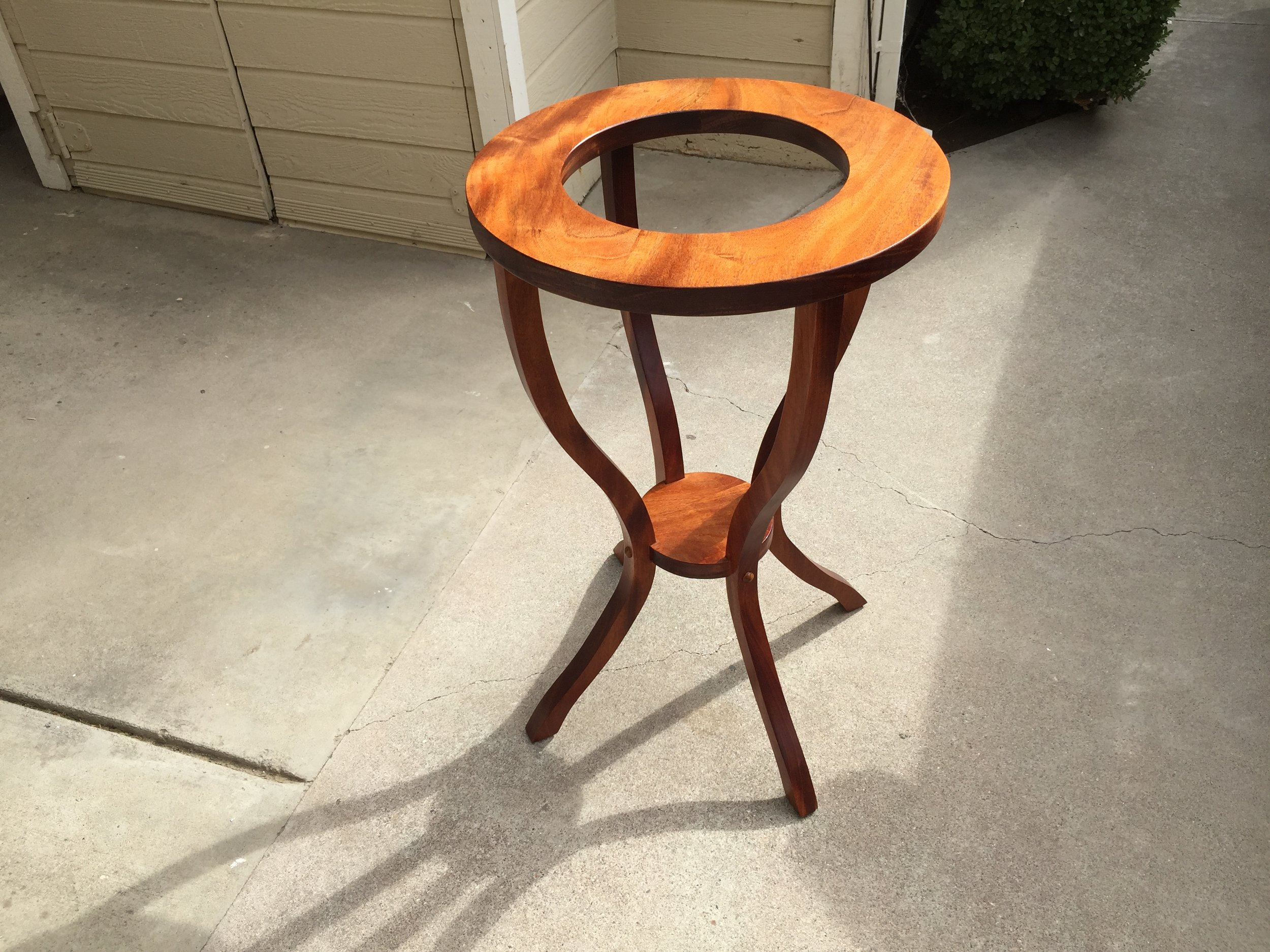 The sun brings out the original orangish color of the wood