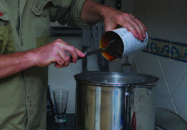 When the boil is finished, turn off the heat and dissolve in your malt extract.