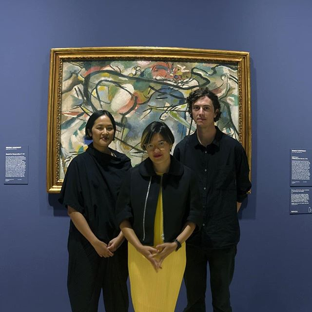SQUAD 👏 GOALS 👏  The other week I had the pleasure of interviewing these talented people, Corin, Becky Sui Zhen and Casey Hartnett about music they composed for the audio-visual guide to the Art Gallery of New South Wales exhibition, Masters of Modern Art from the Hermitage. We talked about their individual careers as solo musicians as well as how they collaborated to create a piece of interpretive art controlled by the viewer.  Episode coming soon! Photo credit to @lilzford