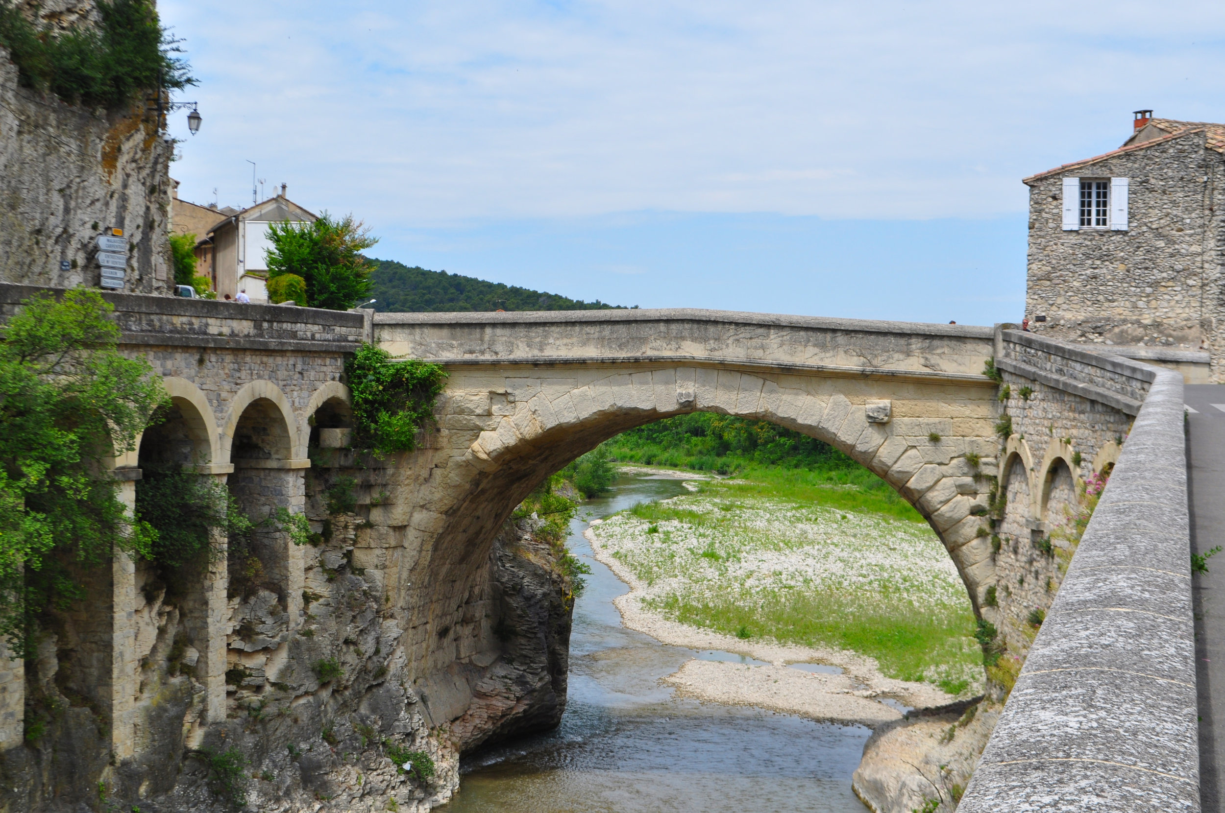 Ancient Roman Bridge in Vaison la Romaine