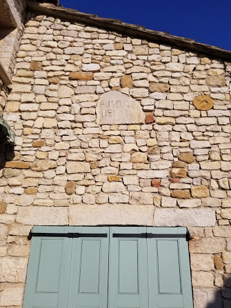 Stone plate on wall of Sablet House