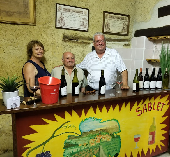 Shirley Augsburger and Me with Ausonio Urban at Domaine Paul Roumanille