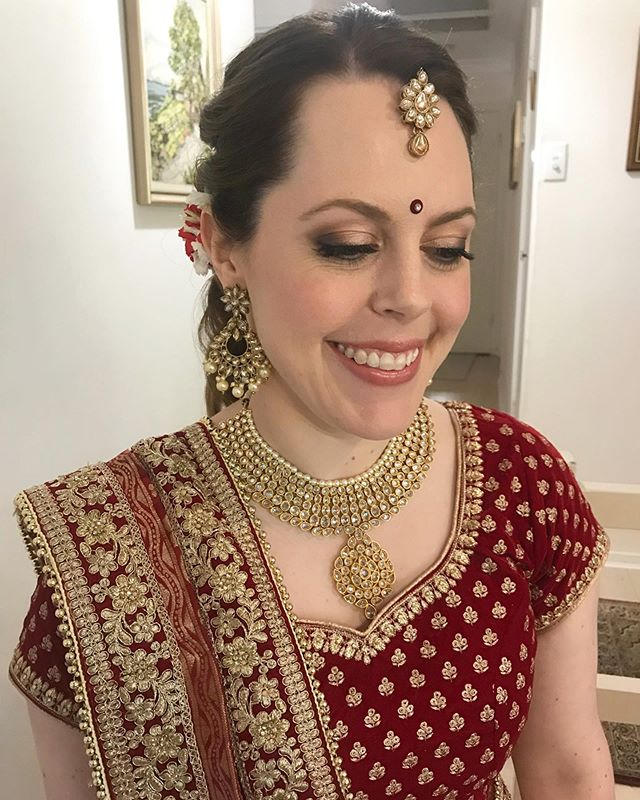 KATE // it was such a pleasure doing hair and makeup for this gorgeous girl for her Indian wedding this morning 💫 . . . . .  #bridalhair #bride #sydneyhairstylist #realbride #hairstylist  #bridetobe #hairinspiration #weddinghair #bridesmaid  #instabride #sydneymakeupartist #makeupartist #weddinghairideas #bridalmakeupartist #bridalmakeup #weddingmakeup #weddingmakeupartist #mua #sydneymua #sydneymakeup #bridalbeauty #bridalstyle #wedding #sydneywedding  #bohohair #indianwedding #hillsdistrictmakeupartist #hawkesburyweddings