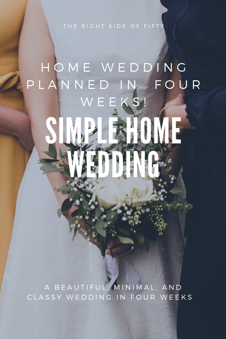 A simple home wedding | THE RIGHT SIDE OF FIFTY