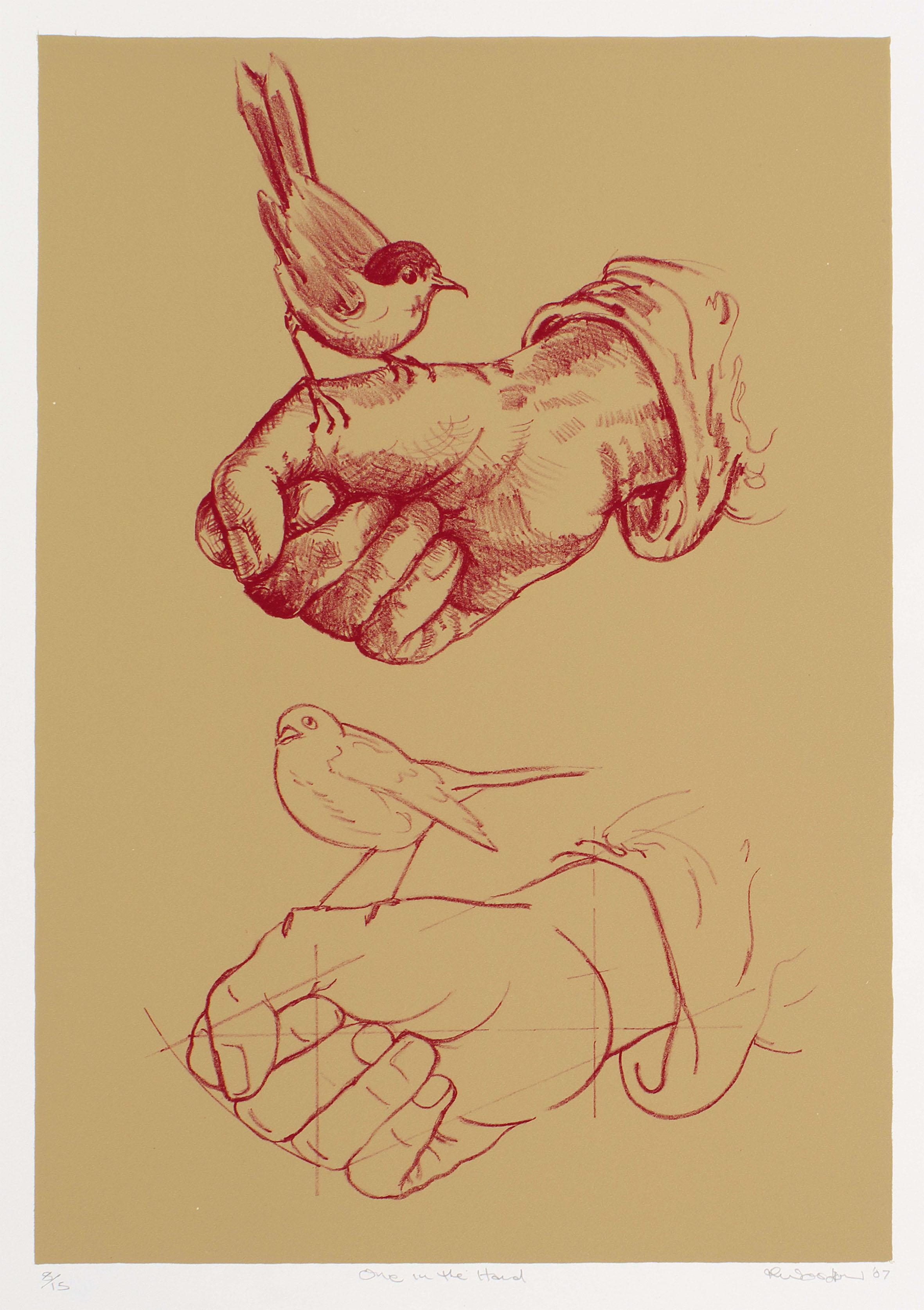 One in the Hand   lithograph (Printer, Satoru Itazu, Tokyo) 415 x 280 mm. Edition of 15.
