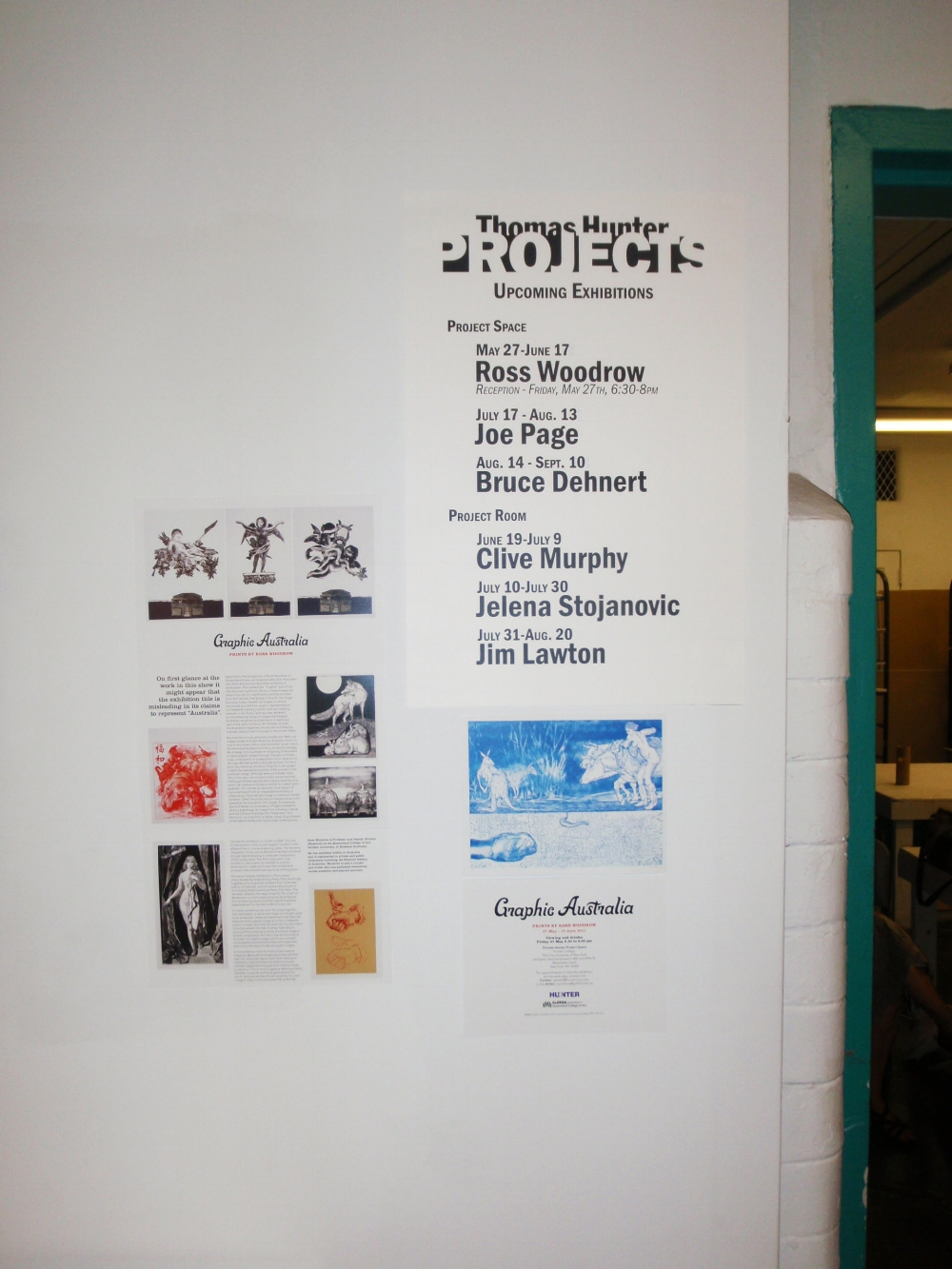 Exhibition entrance at Hunter College, CUNY, New York.