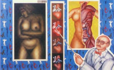 Art as Science , 1988, Enamel on marinewood (120 x 162cms).