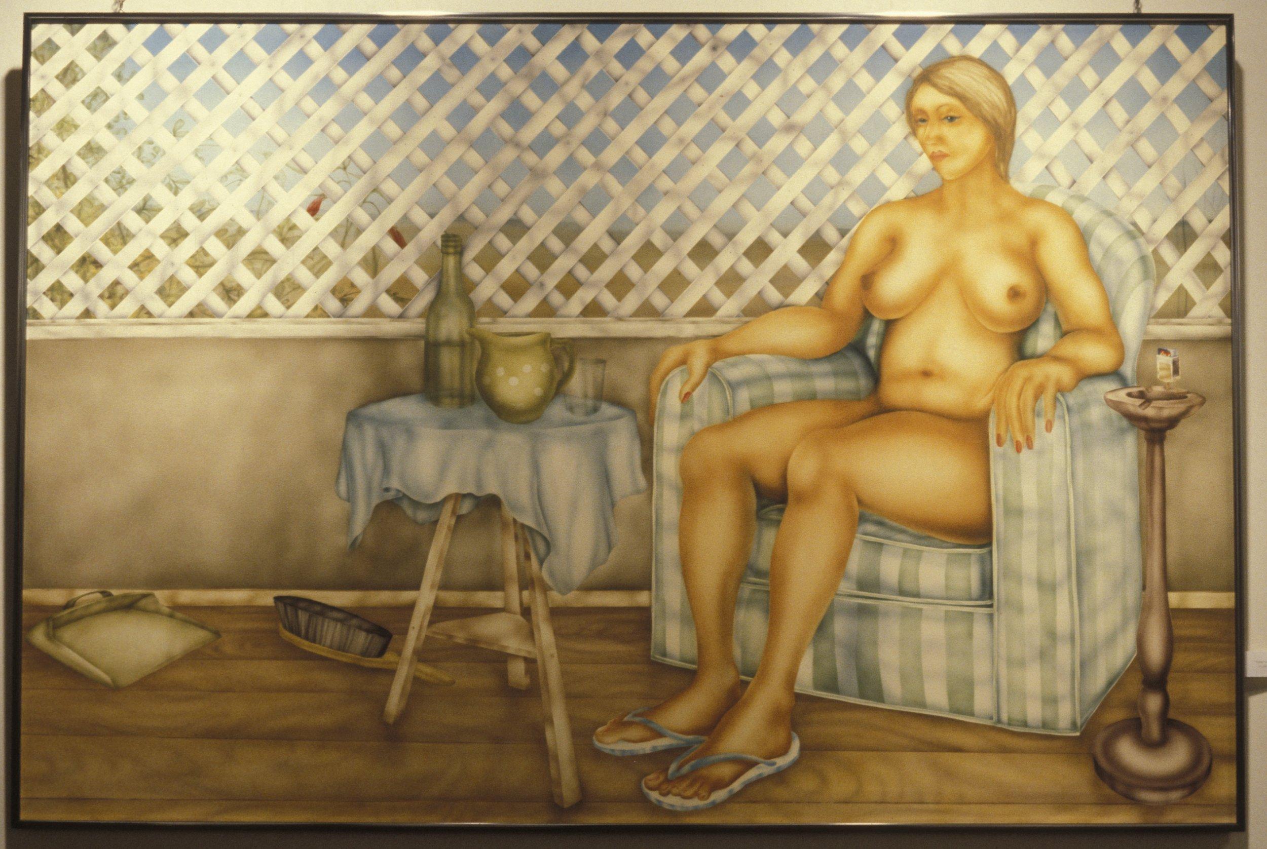 Farmer's Wif e 1983 enamel on marine wood c 120 x 170 cm  (private collection Brisbane)