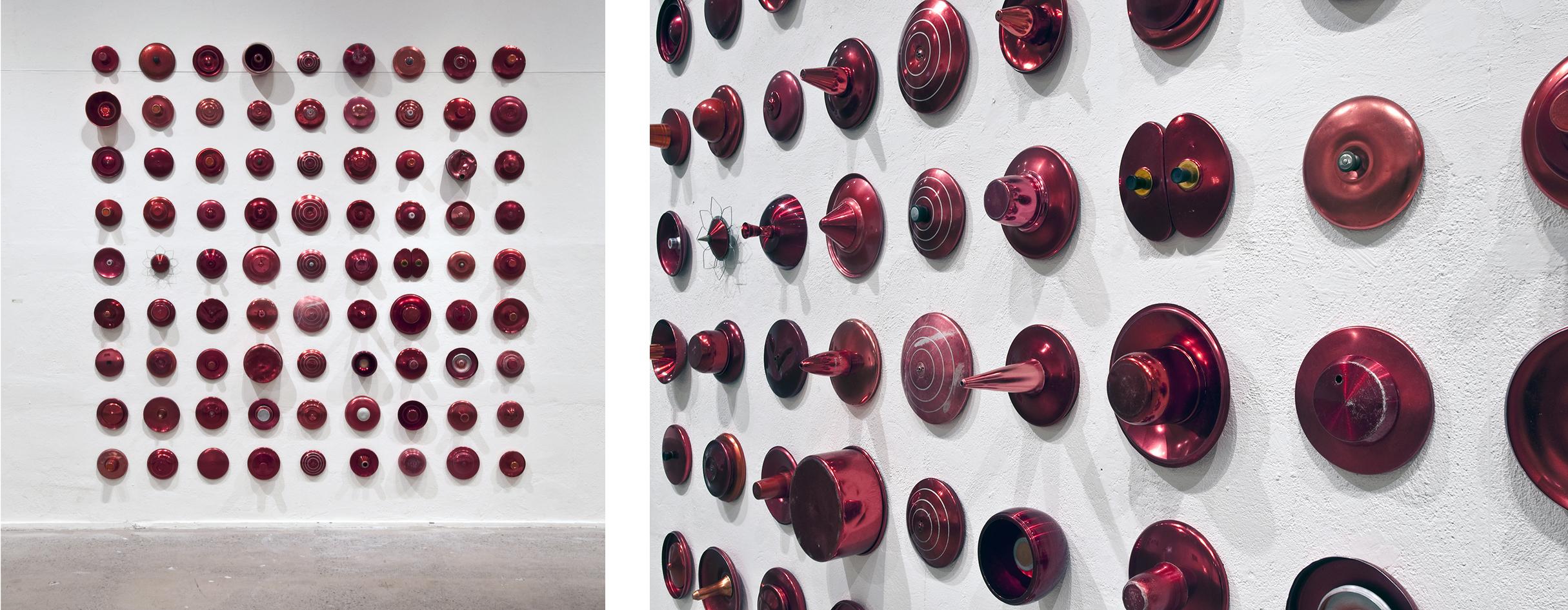 Donna Marcus  Naples   2011, aluminium, 280 x 280 x 20cm,