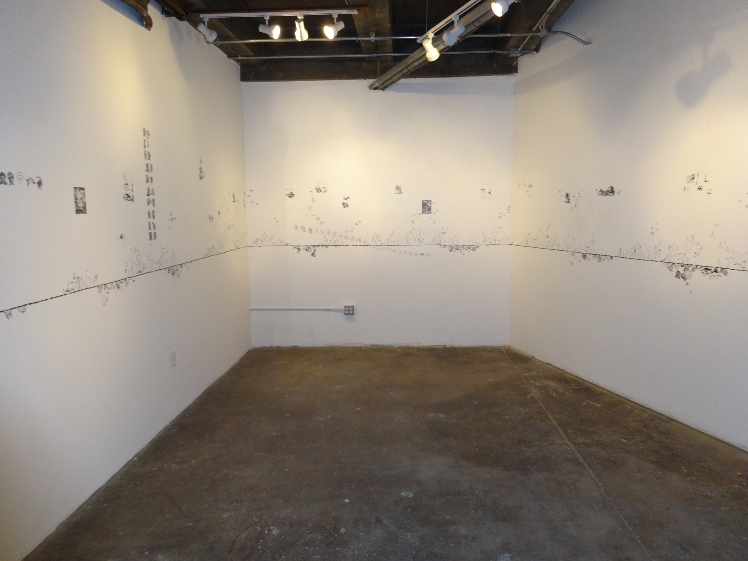 installation view of LIne of Lode