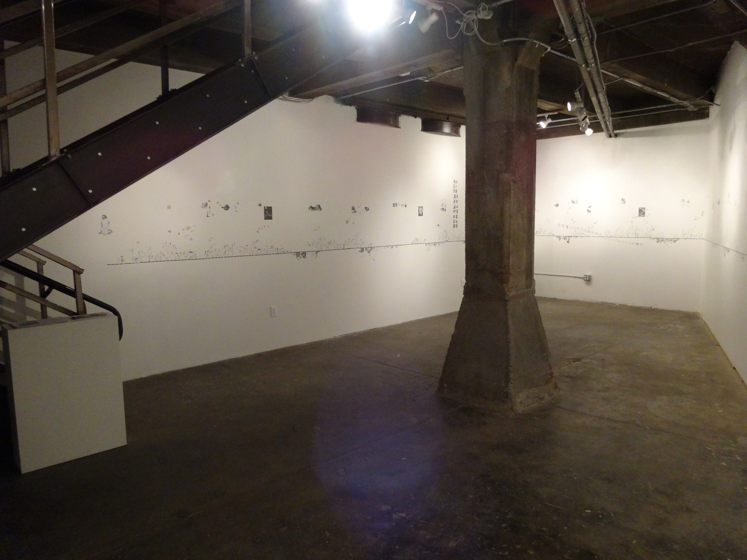 Installation view, Line of Lode