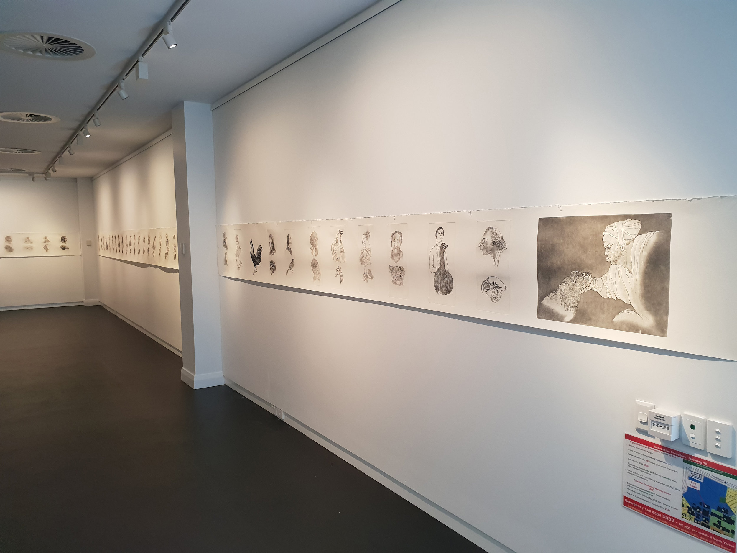 Gallery 25, right entry wall