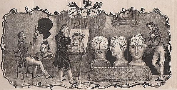 Figure 9b Frontispiece,  Nouveau Lavater complet, réunion de tous les systèmes pour étudier et juger les hommes et les jeunes gens …etc Paris 1838