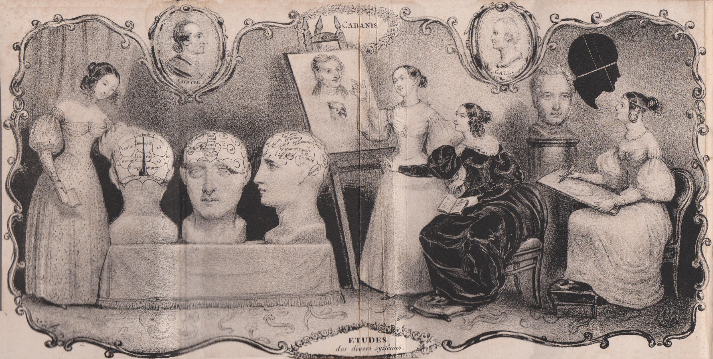 Figure 9a Frontispiece for: Nouveau Lavater complet, réunion de tous les systèmes pour étudier et juger les Dames et les Demoiselles Paris 1840