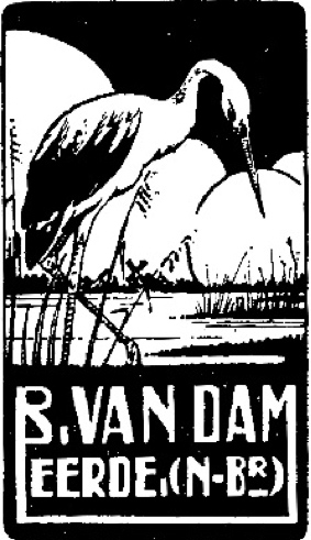 Eigen logo ontwerp met uiteraard de ooievaar als symbool voor Eerde