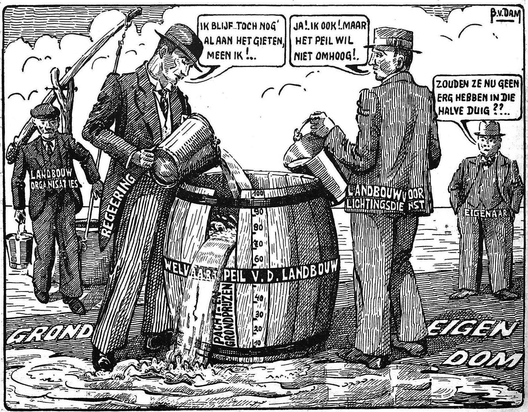 Een politieke cartoon uit september 1938