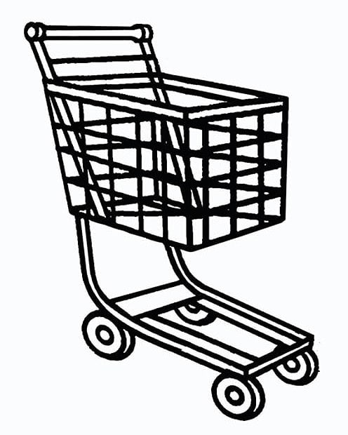 The shopping trolley is synonymous with consumerism and homelessness - go figure Should be a good graphic for @_invisiblestate_