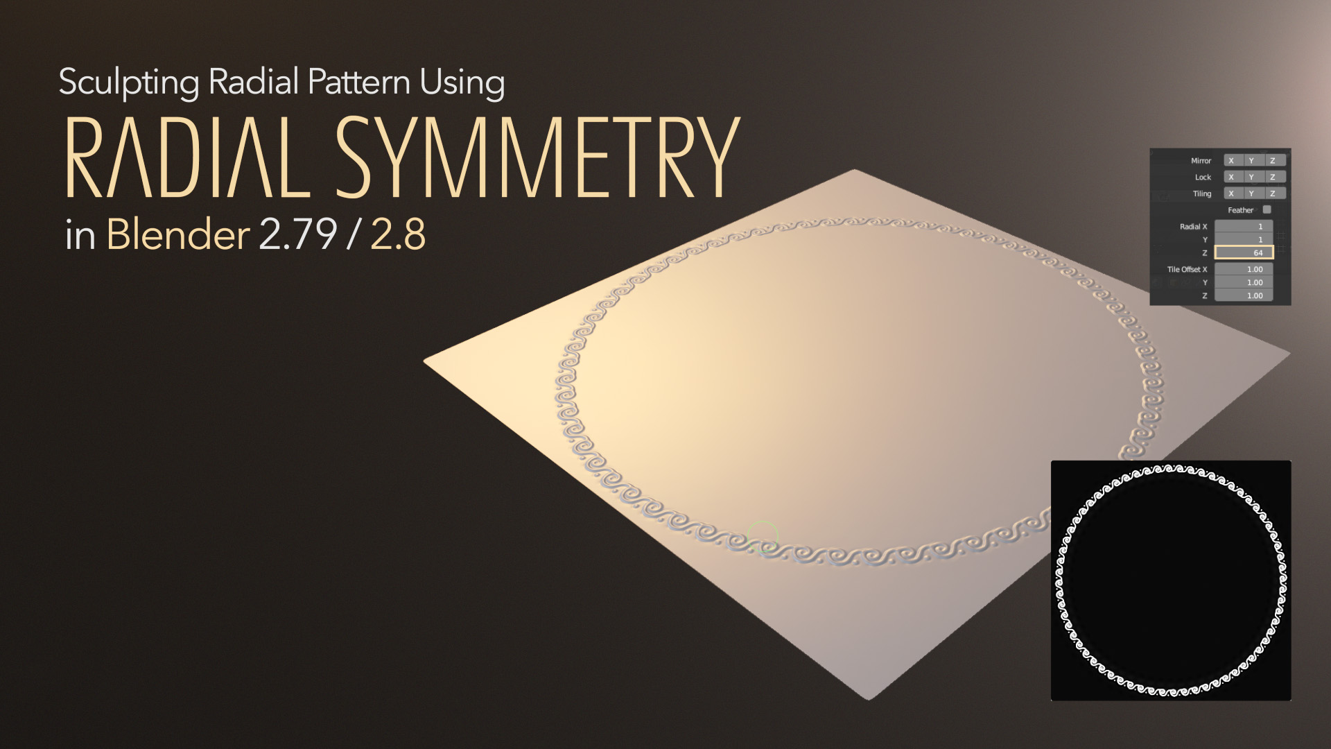 Good for creating your radial patterns and mandalas. You will learn about Radial sculpting, baking and Micropolygon Displacement rendering.