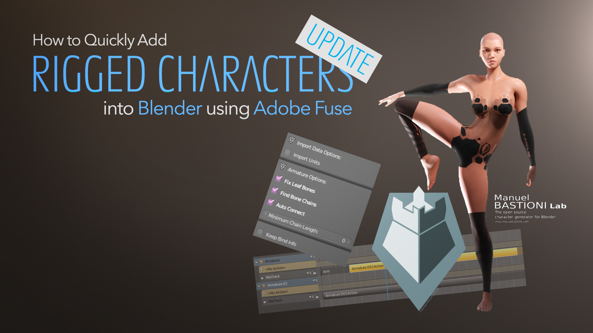 """Based on the comments for the """"How to Quickly Add Rigged Characters into Blender"""" tutorial, I decided to create a video update, to improve upon some techniques I used…"""