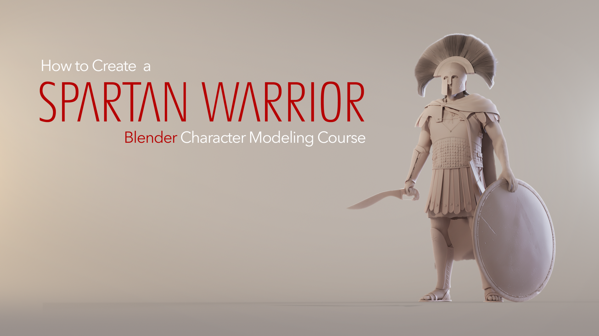 An epic course showing you how to create your own warrior character in Blender. 37 + lessons, 3 hours of videos in total. Plus bonus content. And the obligatory historical fun facts.  Get here .