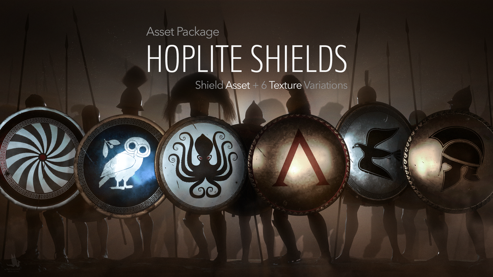 The Hoplite Shield. A symbol of the fighting class of the ancient Greece. The most important part of the war gear of the hoplite warrior. That is why I chose it to be the first model in the series of asset packages focusing on the ancient Greece history.