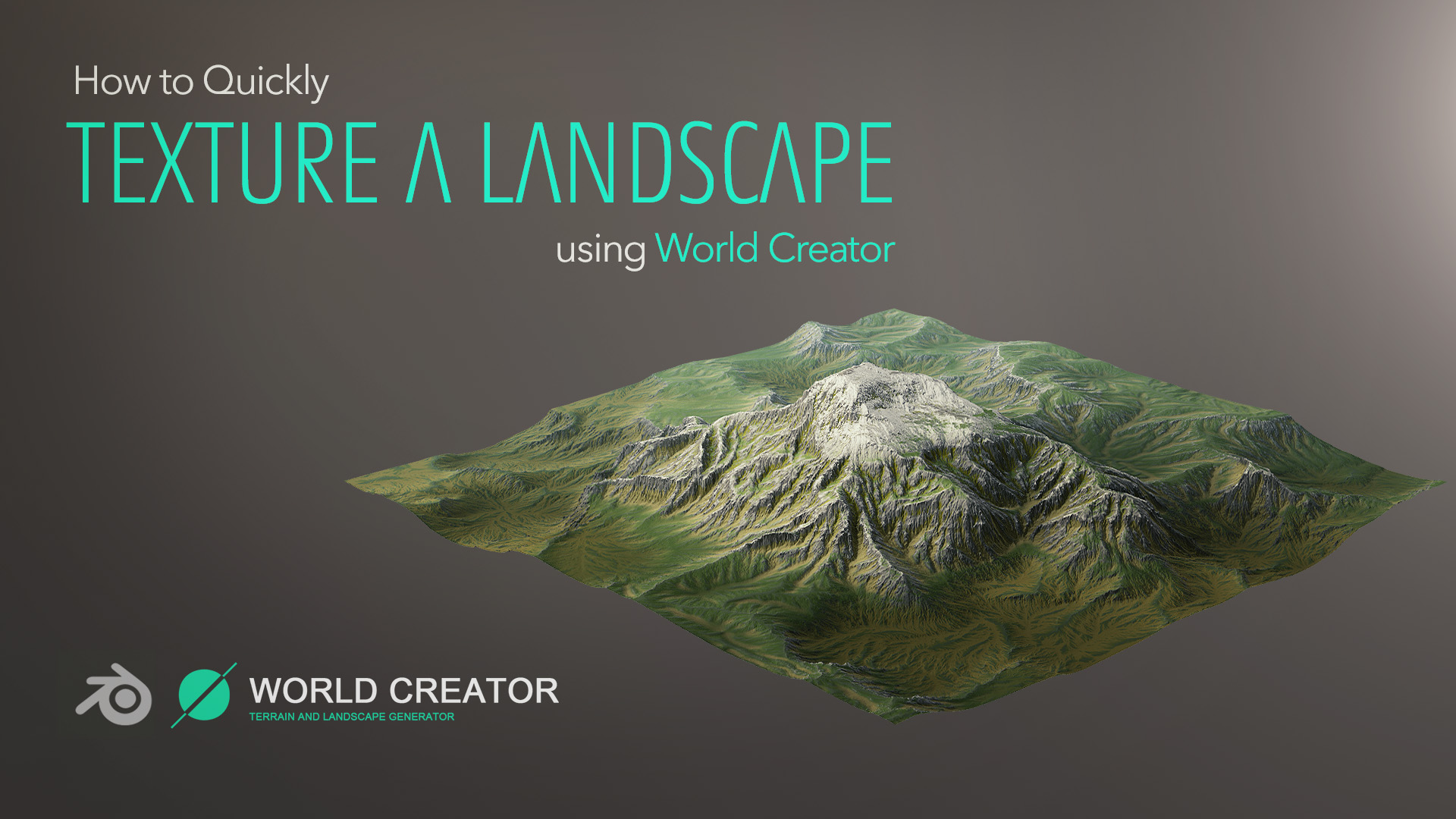A follow-up to the previous World Creator tutorial, this time focusing on how to take your created landscape, texture it and render in Blender.