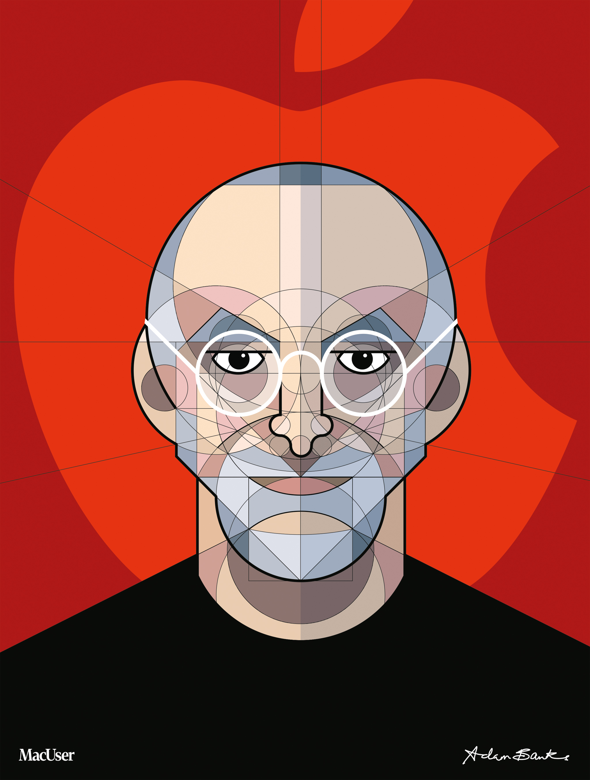 Portrait of Steve Jobs for MacUser cover, 2011
