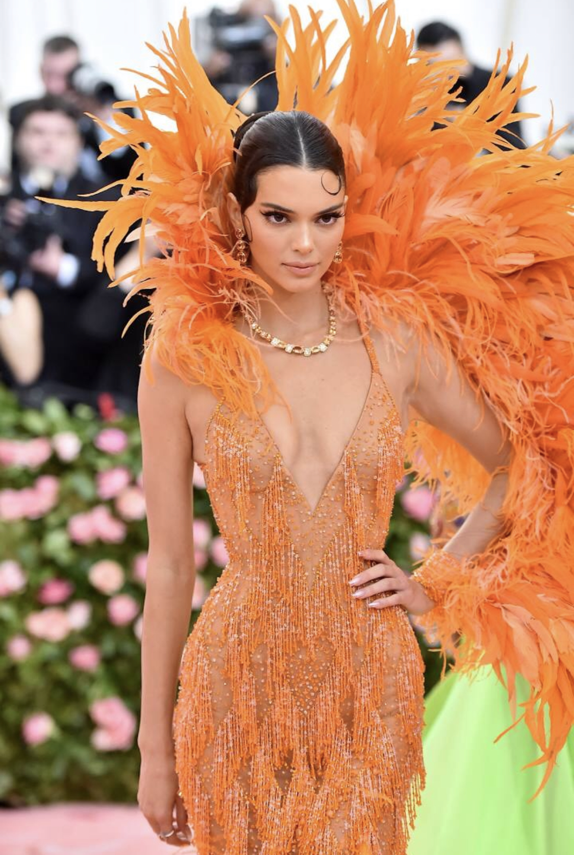 BIRDS OF PARADISE: KENDALL JENNER IN VERSACE