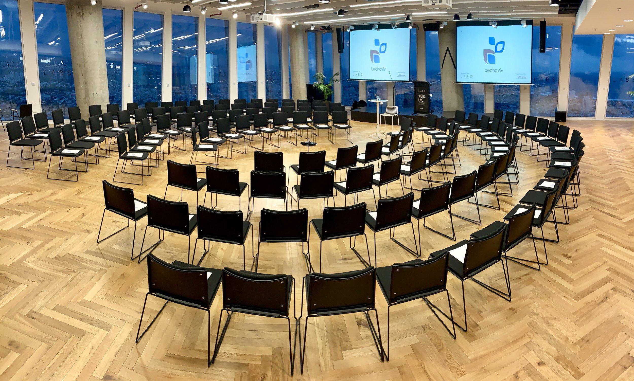 TechAviv town-hall seating at LABS TLV.