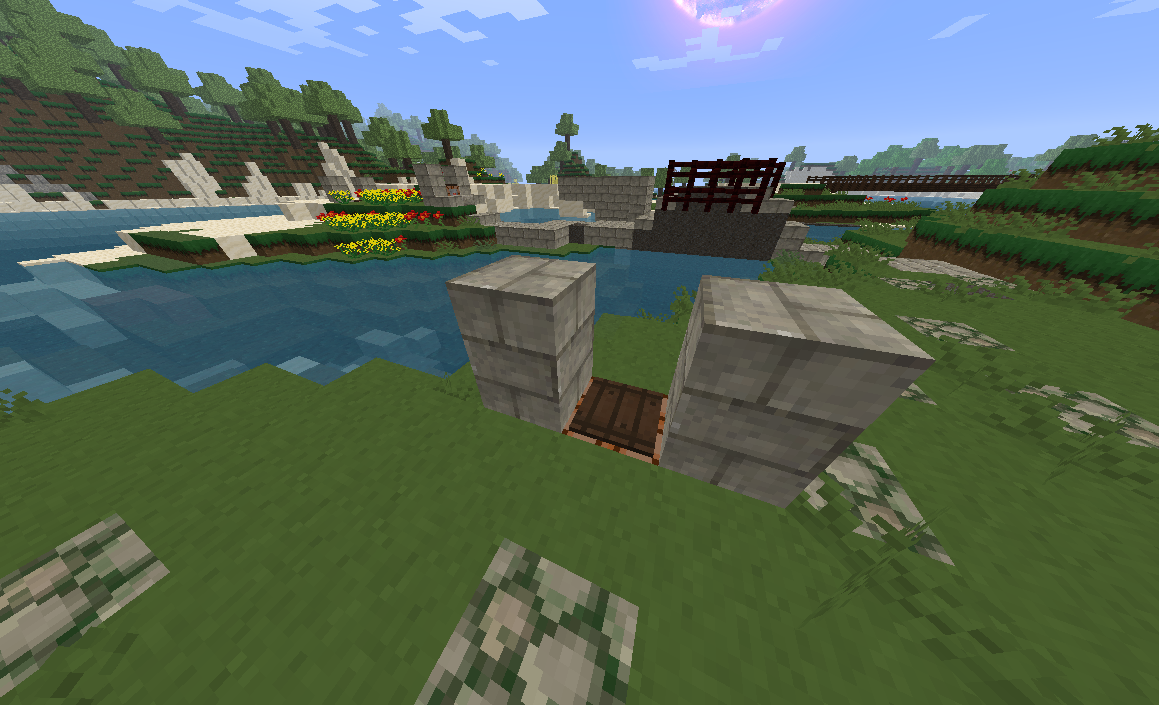 Students placed pressure plates on top of command blocks at key locations along their path.