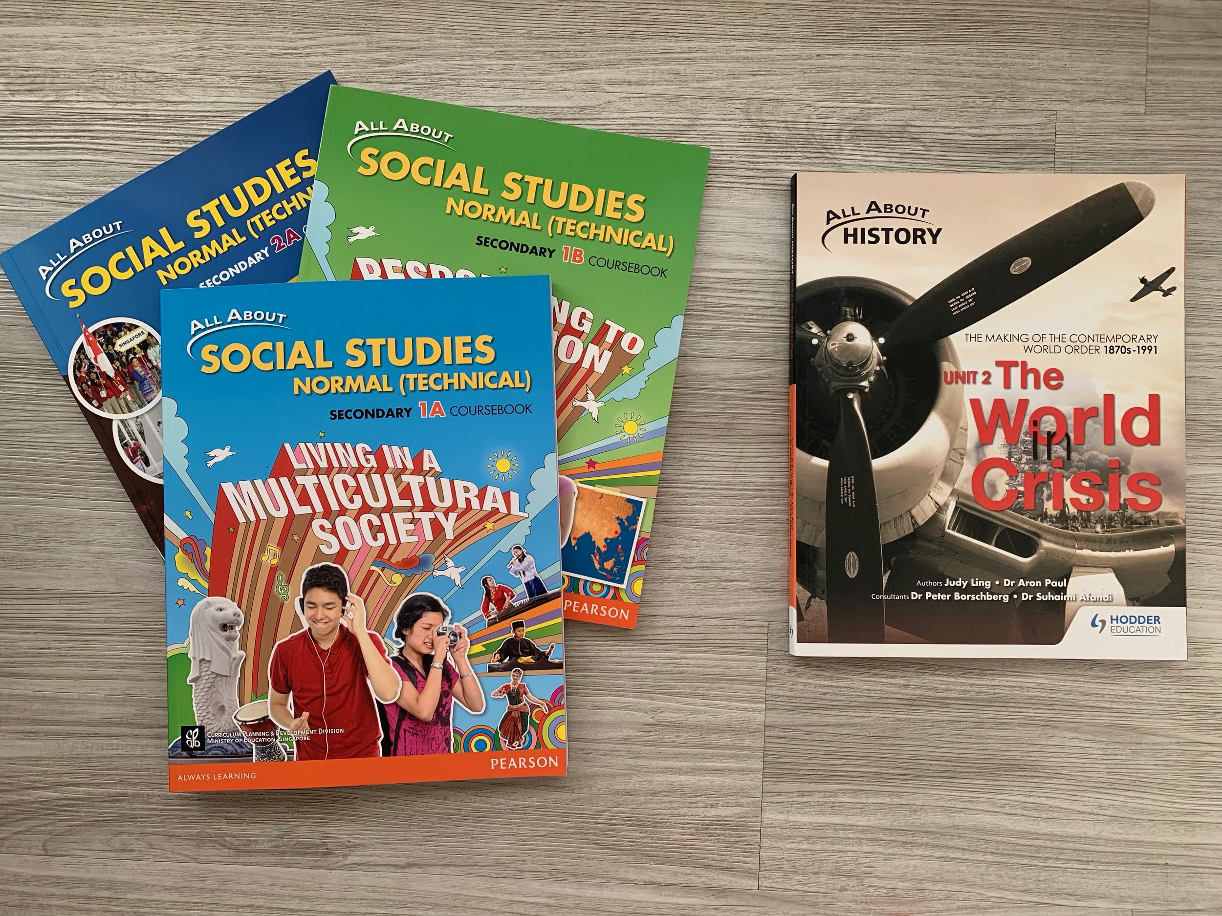 Normal (technical) students take social studies courses while express and normal (academic) take history.