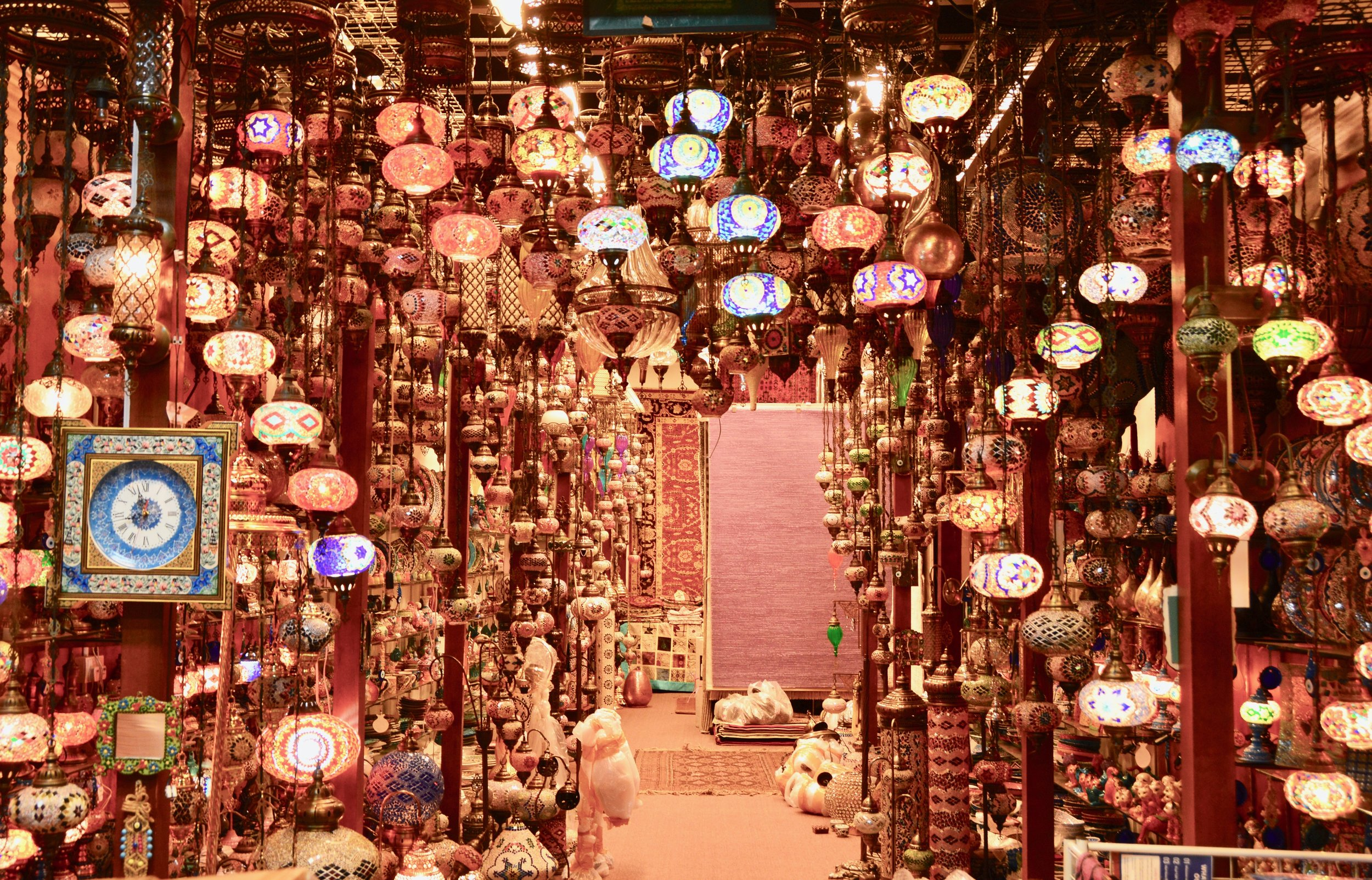 A visit would not be complete without strolling through a lamp store.