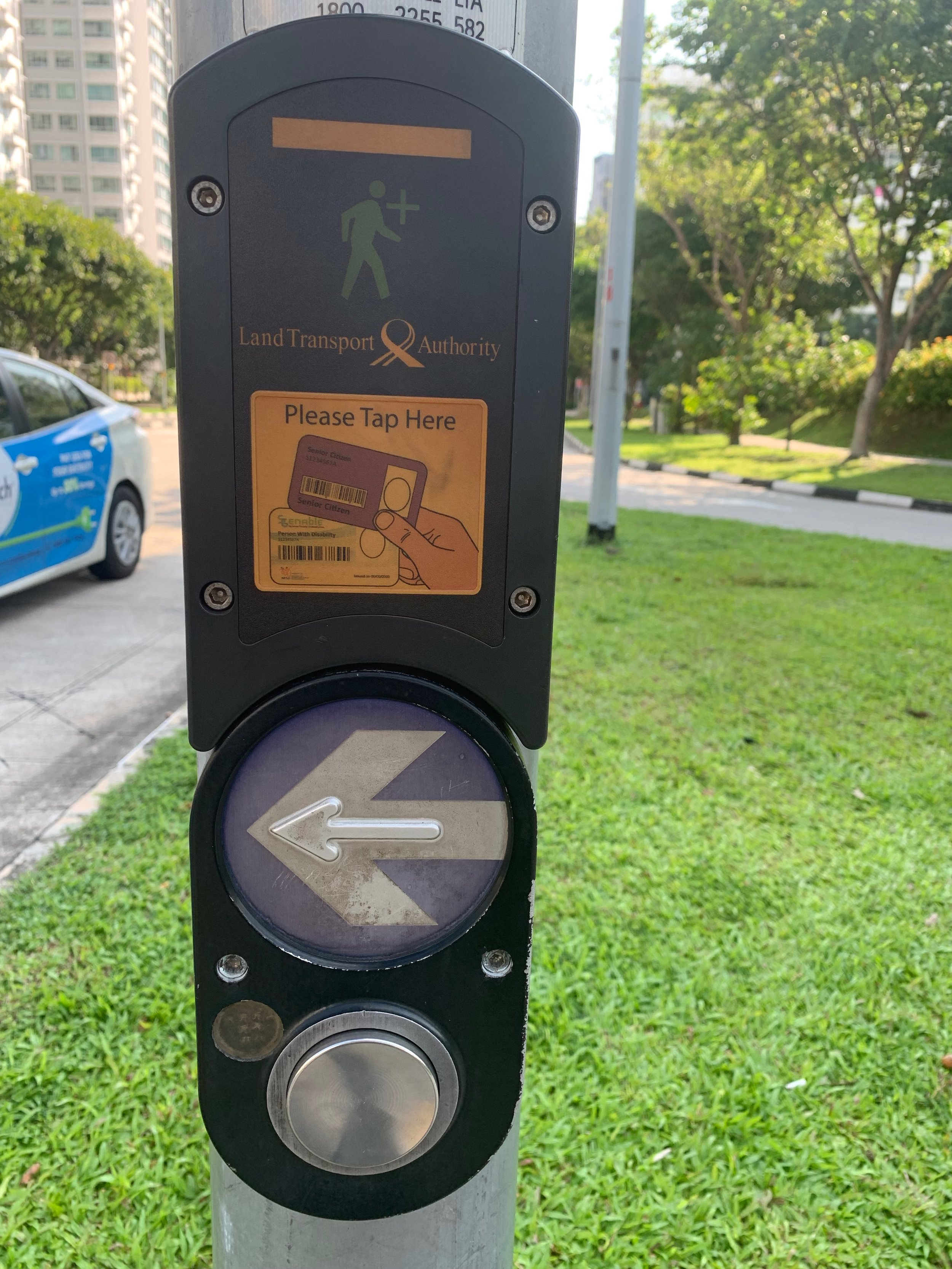 Pedestrians are taken care of at crosswalks. If you need more time, seniors and those with special needs are given a special transport card that allows them to tap the sensor which will add time to the light.