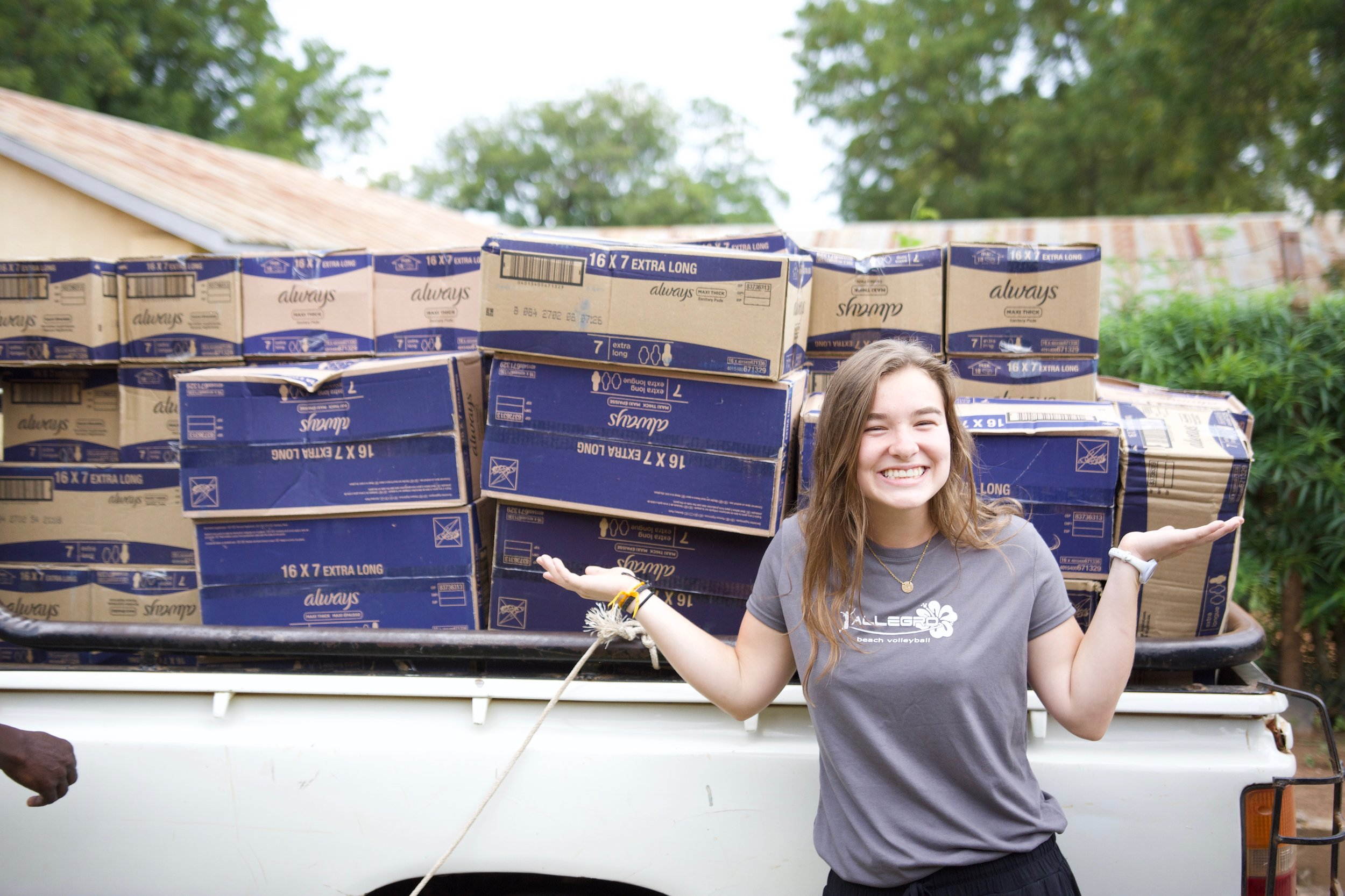 Mission Madera provided feminine products for hundreds of girls in the Summer of 2018 and 2019.