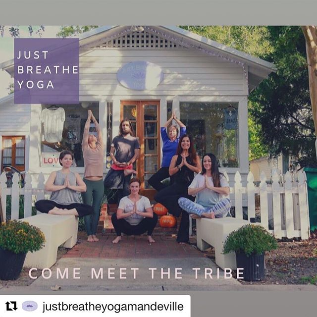 Join me tonight for a donation community class! $5 suggested. #Repost @justbreatheyogamandeville with @get_repost ・・・ THURSDAYS 9:30am Vinyasa Slow Flow @kbergeron87 & 6pm Vinyasa Slow Flow @nicolecaroskincare