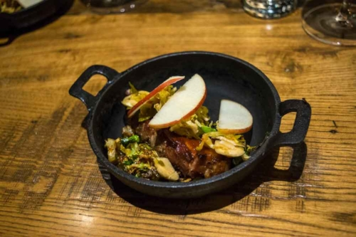 Cast iron serving dish at Southbound.