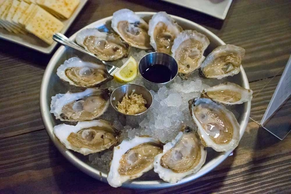 Chesapeake Bay oysters from Rapp Session restaurant in Richmond, VA.