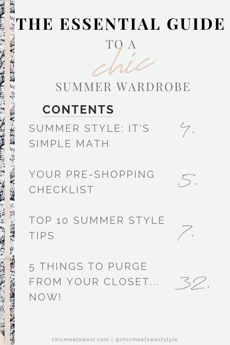 Check out what's in your guide to a chic summer wardrobe!
