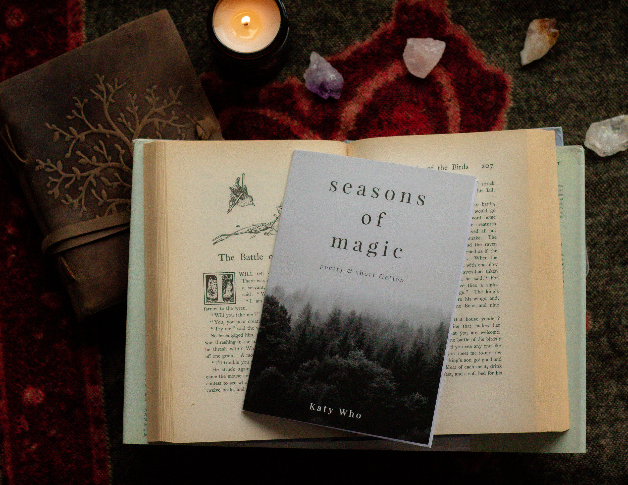 "My self-published small book of poetry and short fiction,""Seasons of Magic""."