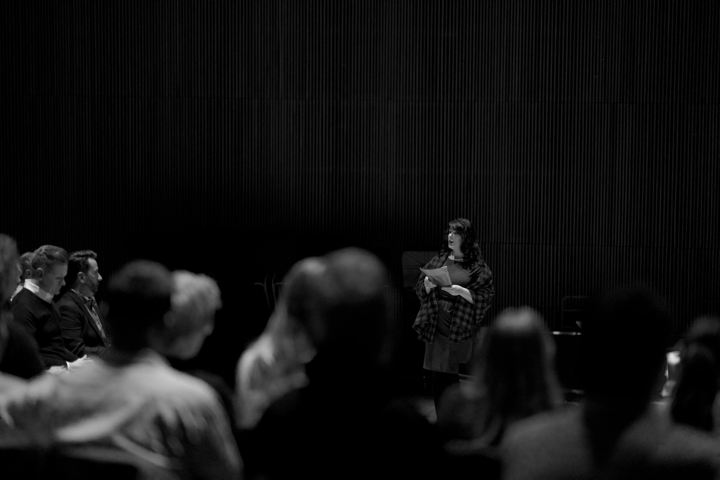 IGM Collaborator, American Soprano Rachel Hippert during the presentation of Lisa Moore's concert. Photo by Hassan Malik