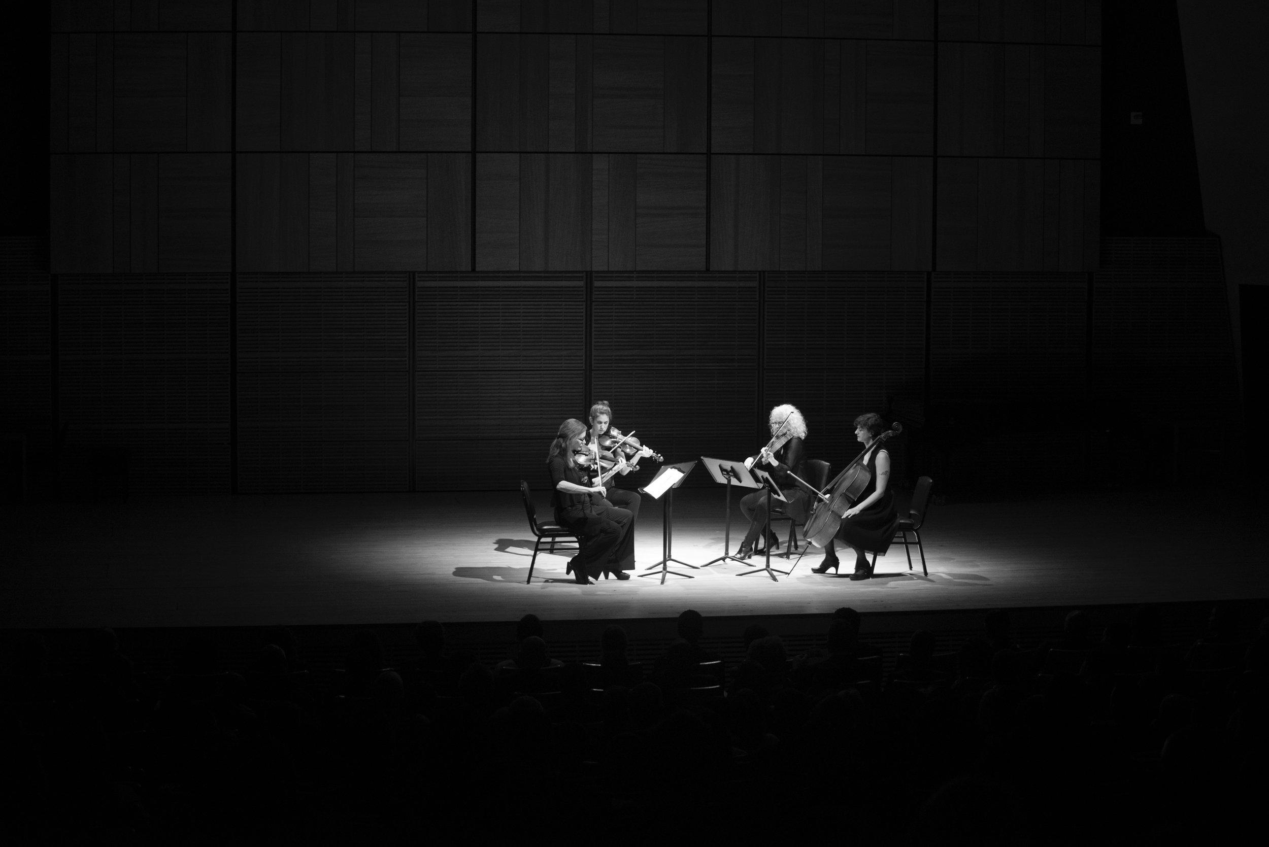 Scorchio Quartet plays De La Chica:  String Quartet No. 1 Op. 7  Photo by Eugene Manning