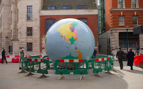 LSE GUARDS THE GLOBE AND AN OSSIFIED WORLD   ANGUS PAGET